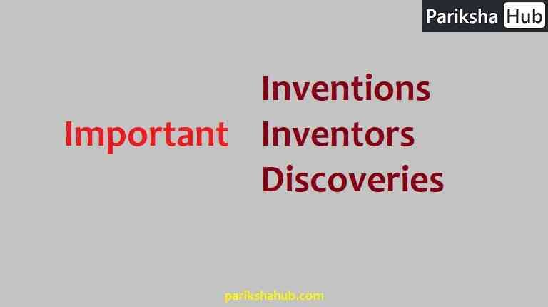 List of Inventions and inventors and discoveries