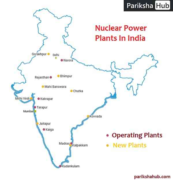 Nuclear Power Plants in India Map