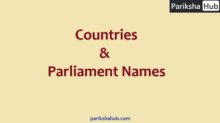 Countries and Parliament Names